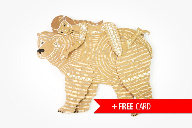 Bear birthday card – Birthday Card Bear