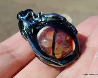 Lampwork  Dragon Eye - Hand Made Glass Dragon's Eye, Glass Dragon's Eye Bead SRAJD FHFTeam