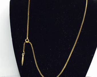 Long Vintage Hipster Necklace, gold plated, Clearance Sale, Item No. S165