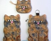 Cat Coin Purse, Cell Phone Case, or Zipper Case, Caramel Brown