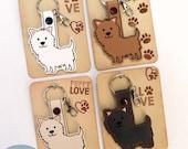 Westie or Cairn Terrier Key Fob, Purse Charm, Westie Key Chain, White Dog Key Charm | SewAmazin