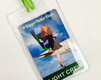 Jet Blue Inspired Luggage Tag