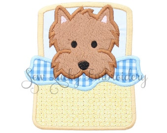 Toto Applique Embroidered Patch , Sew or Iron on