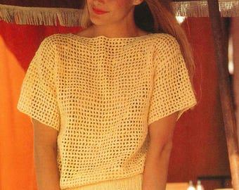 Summer, Crochet, Sweater, Pattern, Beach, Boatneck, Pullover, Beginners, Easy, Quick, Crochet PDF Pattern, Crochet Instant Download