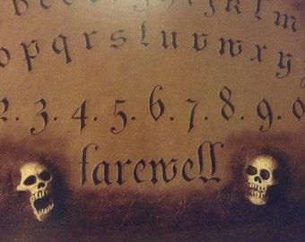 "Miniature Ouija Board / Spirit Board / ""Catacomb of The Shadow Realm"""
