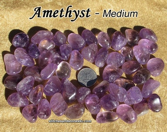 Amethyst tumbled stone for crystal healing