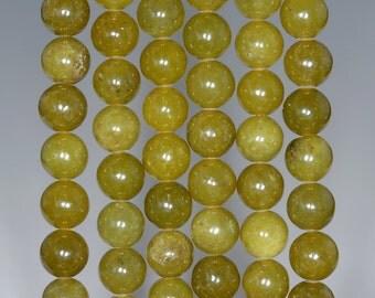 8mm Olive Peridot Gemstone Grade AA Green Round Loose Beads 15.5 inch Full Strand (80002400-796)