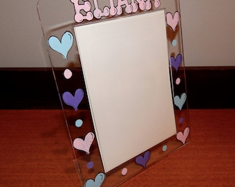Painted and Personalized Acrylic Frame