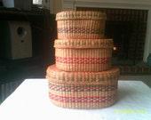 Vintage Stacking Baskets