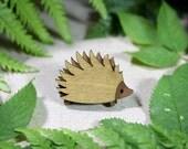 Hedgehog Brooch - Woodland Collection