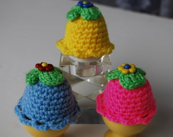 Easter decoration,set of 3 eggs hat.