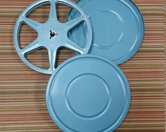 Movie Reel and Canister Scherer EZ-Grip Reel 5-1/8 1960s