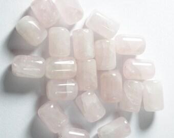 Rose Quartz Barrel Beads, Semi Precious Stones, Real Stones,
