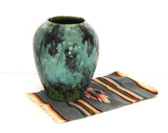 Brush McCoy Pottery Green Onyx Drip Glaze Vase- 1920s