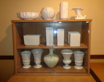 Vintage White  Pottery Collection, 14 Pieces of Haeger, USA and McCoy Pottery in Vintage Condition in the same off white matte finish