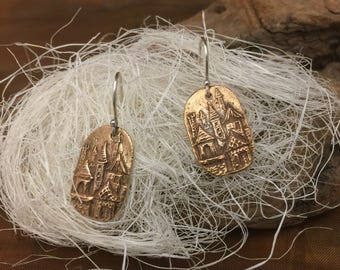 Small Lost City Coin Earrings