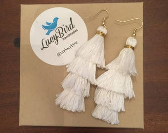 Layered Fringe Tassel Earrings