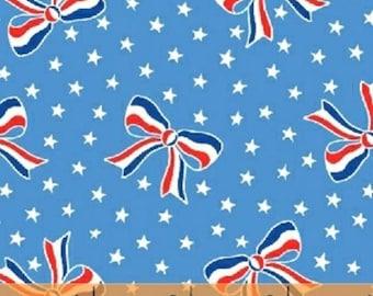 Windham - Storybook Americana - Bows - Blue