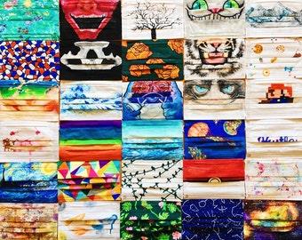 Custom Hand-Painted Cloth Masks