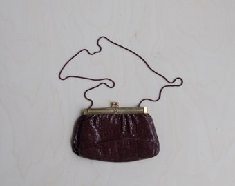 Vintage auburne metallic handbag