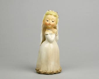 Shabby but Sweet Bride, Looking for her Shabby Groom (or Bride) Alternative Wedding Cake Topper made in Japan