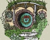 Bookish Christmas Card Fantasy Christmas Card Geeky Card Book Worm Christmas Card