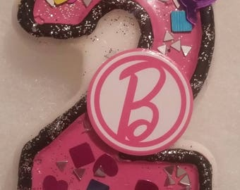 Barbie Birthday Number Candle