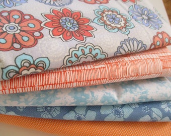 FREE SHIPPING - Quilting Fabric Bundle - Quilting Fabric by the Yard -  1/2 Yard EA - Total of 2.5 Yards - Cotton Fabric