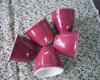 Burgundy Dinerware Custard Cups