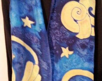 Clouds and stars scarf