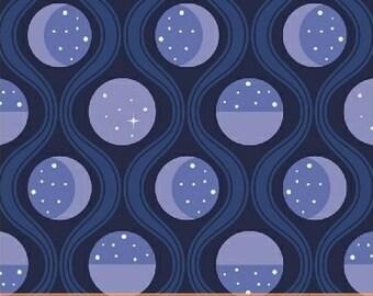 Luna Sol - Lunar Tide in Navy - Felice Regina for Windham Fabrics - 41878-2 - 1/2 yard