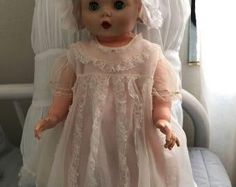 Vintage Baby Frilly Dress w/ slip