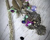 ANGEL OF PEACE Ooak Heirloom Bookmark Book Hook, Beaded Original Design by Jessica Galbreth