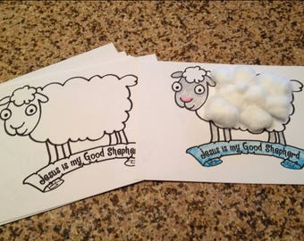 Preschool Kindergarten Sheep Craft Printable for Sunday School, Religious Education