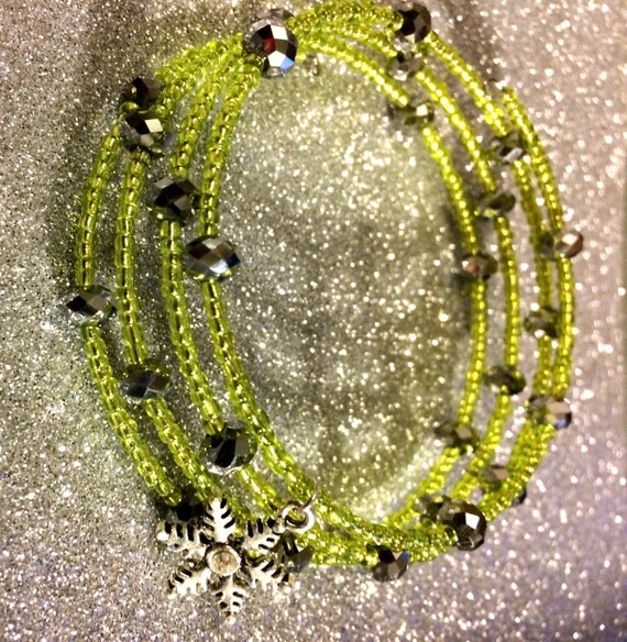 Silver crystal faceted beads christmas gift stocking filler xmas gift