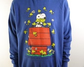 1994 Snoopy Woodstock Friends Sweatshirt Size Large