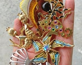 Vintage ocean sea life brooches Hobe Art jelly belly Craft 1960s designer lot Studio clean out!