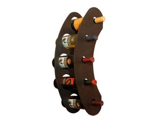 industrial wall mount wine rack