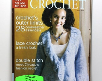 Interweave Crochet, Crochet Magazine, Fall 2006, Crochet Patterns, Crochet Sweater Patterns, Crochet Hat Pattern, Crochet Skirt Pattern
