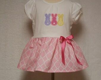 Easter dress,toddler Easter dress,infant Easter dress,pink Easter dress,party dress,spring dress,applique dress