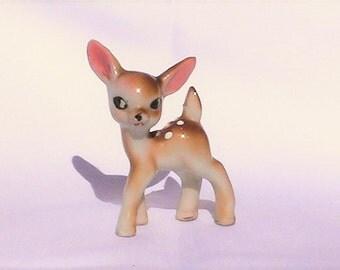 Vintage deer figurine. Deer figurine. Vintage deer. Occupied Japan figurine.