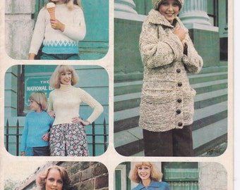 Paton's Knitting Pattern No 482  Knitting Designs for for Ladies & Girls in Katie, Caressa, Columbine (Vintage 1970s)