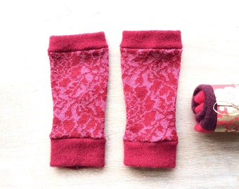 XS Fingerless Gloves in soft merino wool, wrist warmers, typing gloves