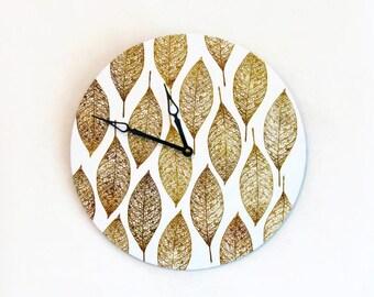 Unique Wall Clock,  Autumn Art, Ready to Ship, Home Decor,  Home and Living,  Decor and Housewares, Clocks