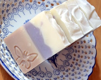 Coconut and Lavender Soap -  Handmade soap with Shea and Cocoa Butter -  Handmade in BC, Canada