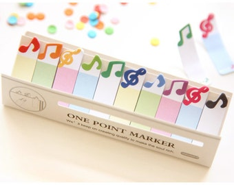 Cute Sticky Notes Bookmark Musical Sticky Notes