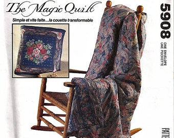 The Magic Quilt / Original McCall's Crafts Uncut Sewing Pattern 5908