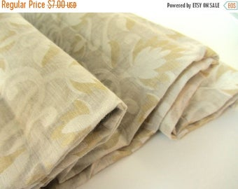 ON SALE White gold white branches Varanasi cotton silk fabric nr 392 REMNANT