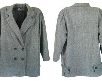 Plus Size Coat Wool Pea Coat Wool Peacoat Women Wool Coat Women Peacoat Women Winter Coat Plus Size Clothing Ladies Winter Coat Gray Coat