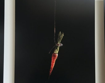 Carrot Painting Print on Metal